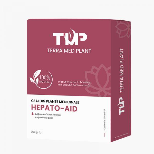 Ceai din plante medicinale HEPATO-AID 250 g Terra Med Plant