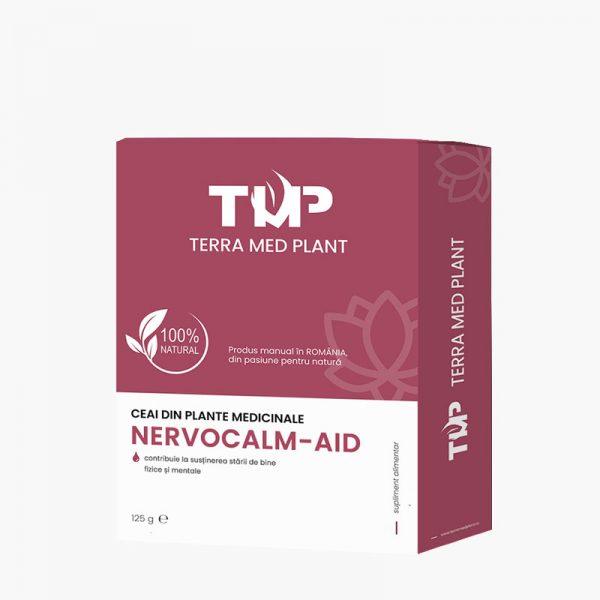 Ceai din plante medicinale NERVOCALM-AID 125 g Terra Med Plant