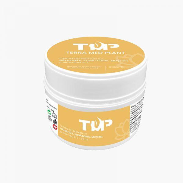 Crema tip balsam cu GALBENELE, SUNATOARE, MUSETEL si vitamina A, E 50 ml terra med plant